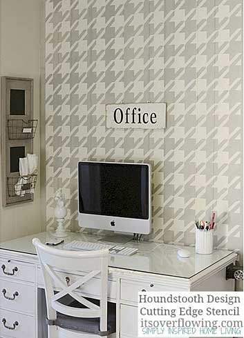Houndstooth-stencil-pattern-walls